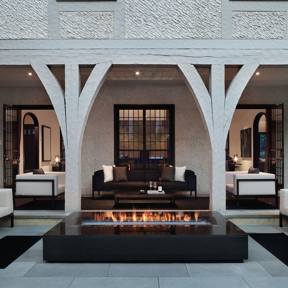 Interior Fire Pit Part - 44: Built-in Fire Pit