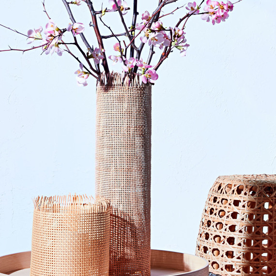 weave caning vase