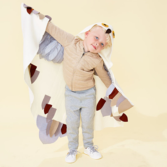 snowy owl kid costume