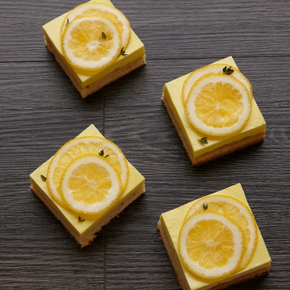 Gluten-Free Lemon Bars with Thyme-and-Brown-Butter-Shortbread Crust