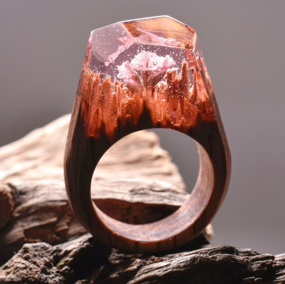 pink ring by secret wood