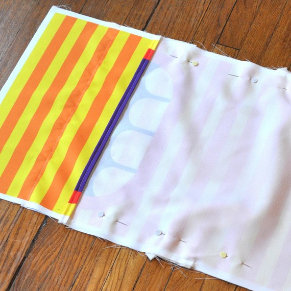 Sew together the front and back