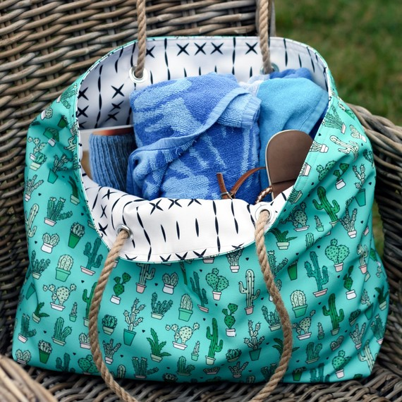 eco canvas beach tote