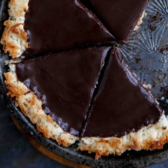 chocolate-coconut-tart