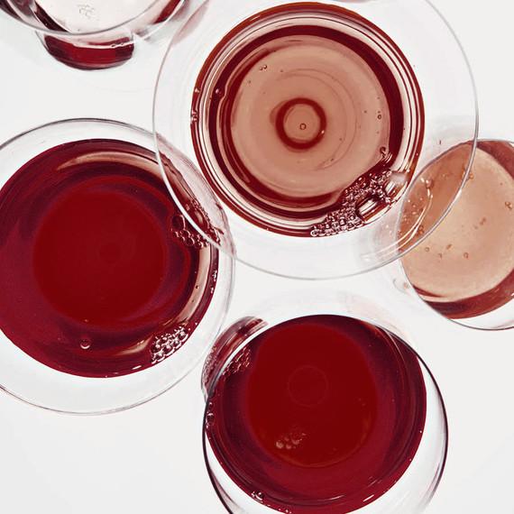 glasses of red orange wine