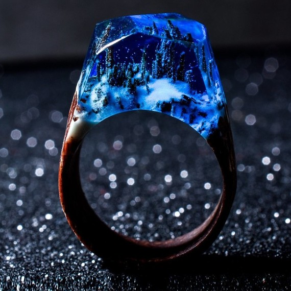 snowy forest ring by secret wood