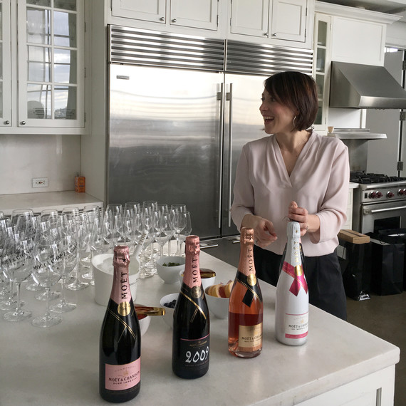 Moet rosé champagne tasting