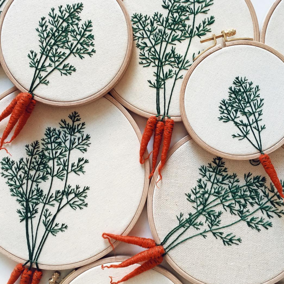 carrot embroidery