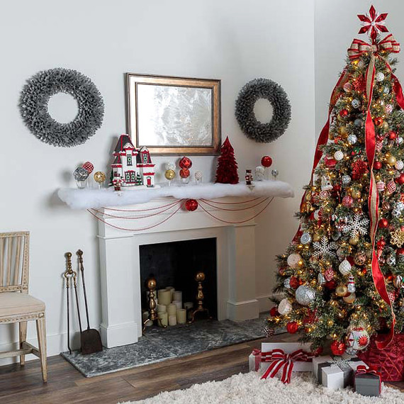 mantel decorations - Home Depot Christmas Decorations