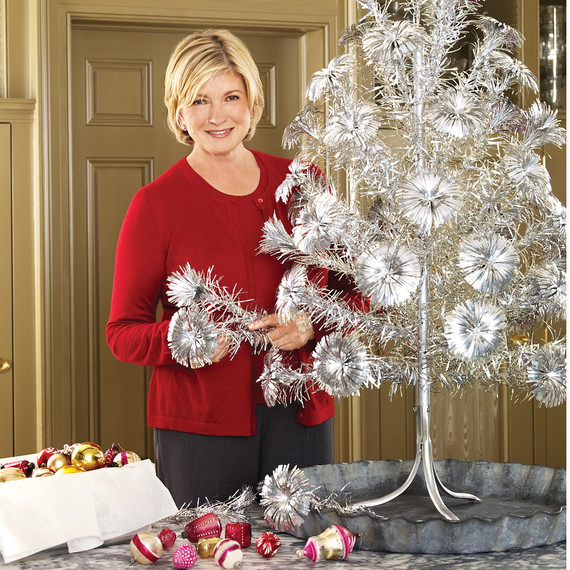 mld105030_1209_tinsel17jpg when artificial shiny aluminum christmas trees - Martha Stewart Christmas Trees
