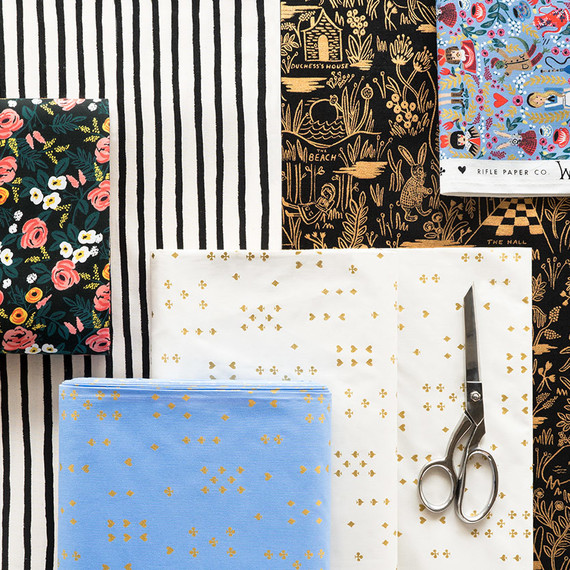 Wonderland fabrics by Rifle Paper Co.