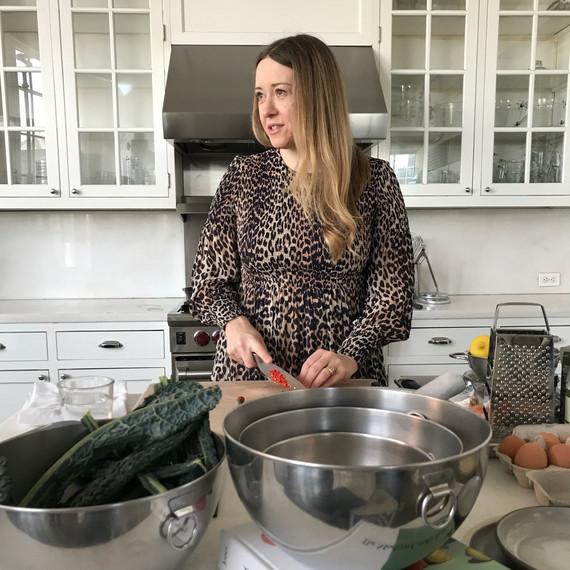 anna jones portrait in the kitchen