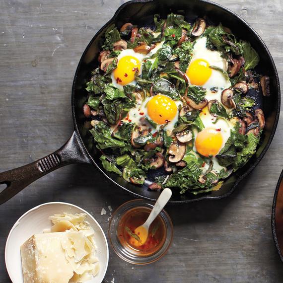 fried eggs skillet