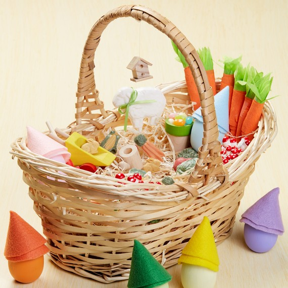 A charming gnome garden easter basket thatll delight kids martha gnome easter basket negle Image collections