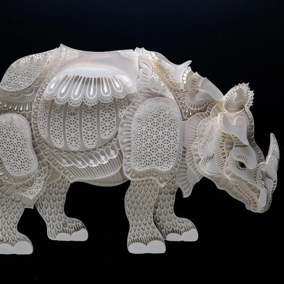 rhino papercut