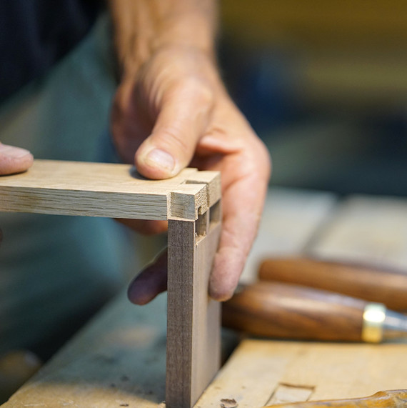 wood school close-up