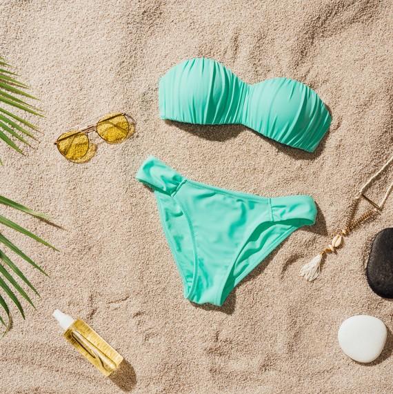 bikini on sand