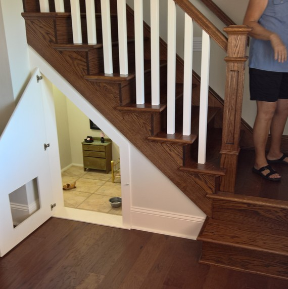 dog room under stairs