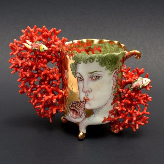 irina zaytceva art woman coral