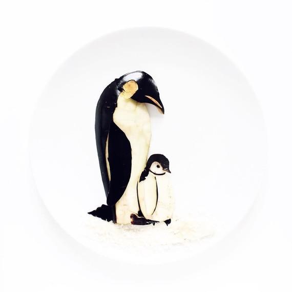 penguins-food-art-cc-0617
