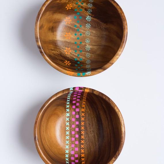 Painted Wood Bowls