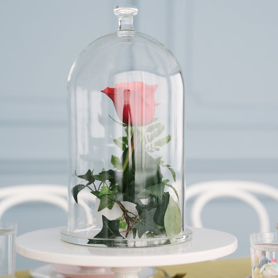 beauty beast baby shower rose in glass