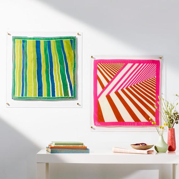 DIY Framed Scarves