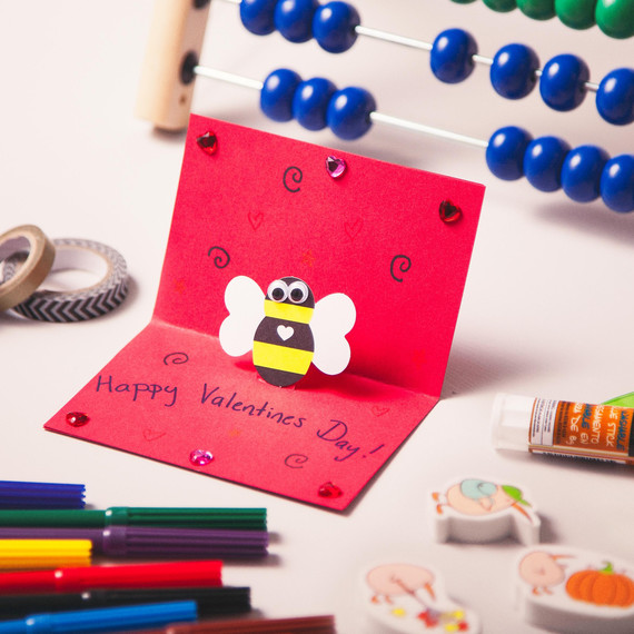 Kids Craft Pop Up Valentine S Day Cards Martha Stewart