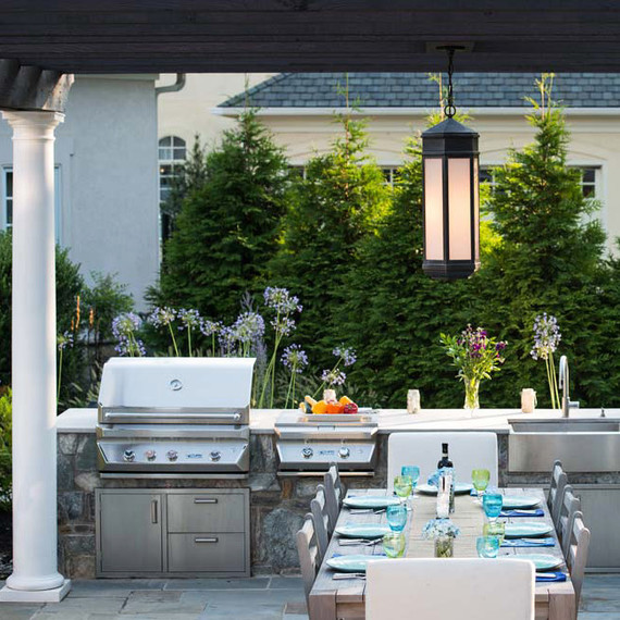 landscaping trends outdoor kitchen grill table