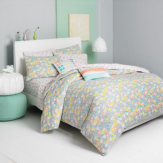 macys bedding flower crown blue