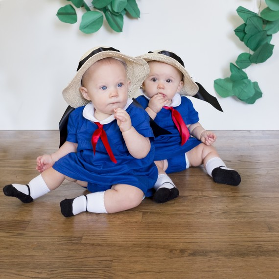 twin babies  sc 1 st  Martha Stewart & 1 Mom 31 Days of Halloween Costumes: Would You Try This Challenge ...