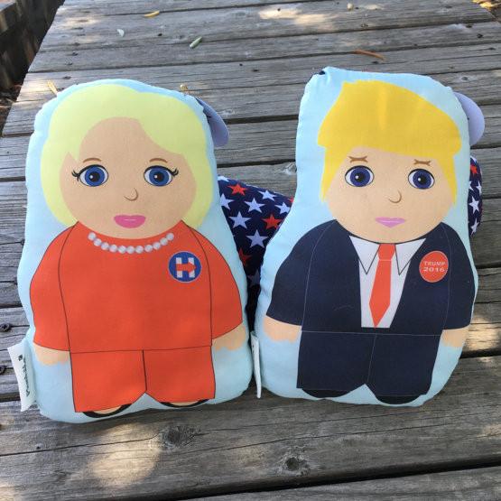Hillary and Donald Stuff Dolls