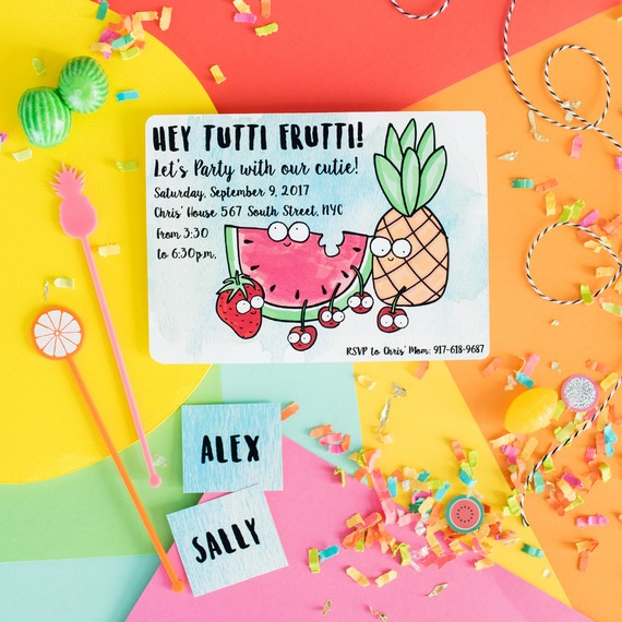 fruit party invitation