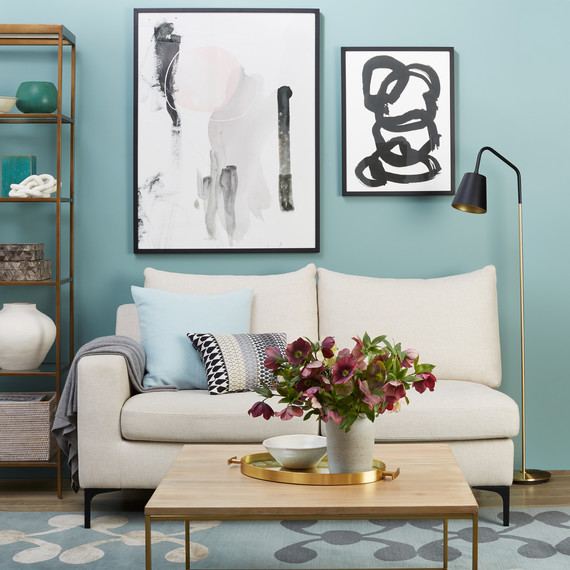 Interesting Living Room Paint Color Ideas: See How Paint Dramatically Transforms This Living Room