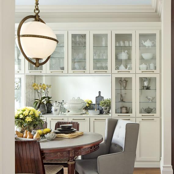 dining room makeover after statement chandelier
