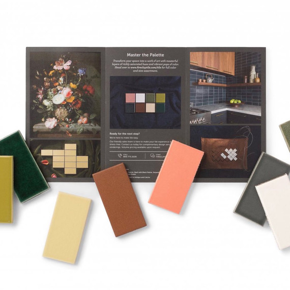 fireclay tile dutch masters palette sample box