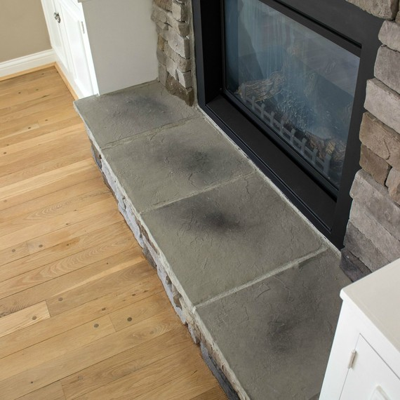 How to Create the Stacked Stone Fireplace Look on a Budget ...