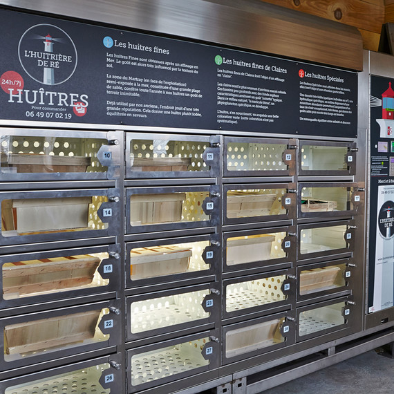 oyster vending machine