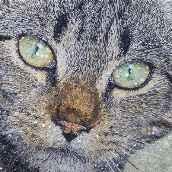 Beaded Cat