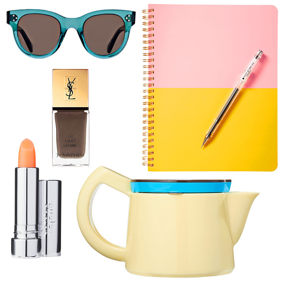 tastemaker products sunglasses lipstick coffeepot notebook nail polish