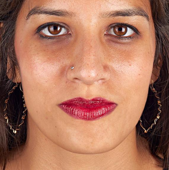 berry red lipstick