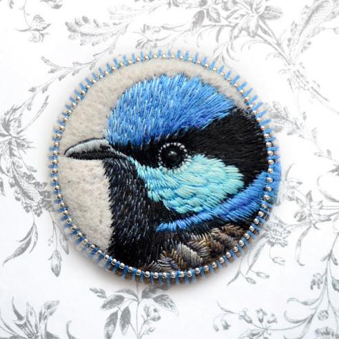 blue wren by paulina bartnik