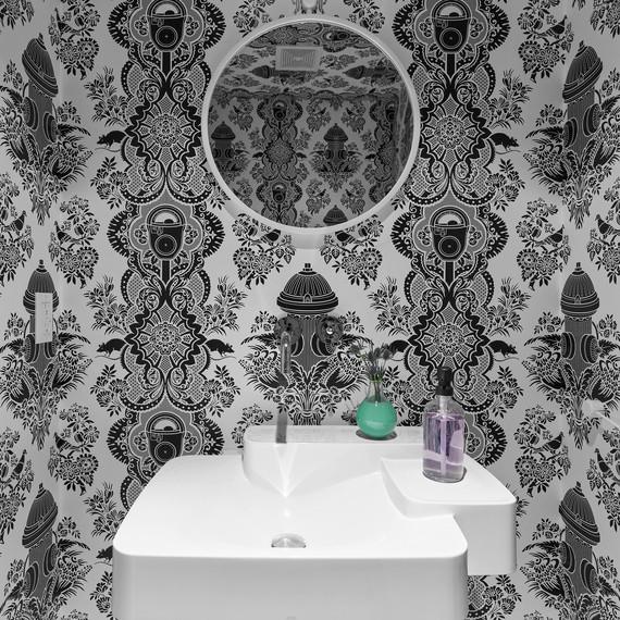 dania colorful home redo powder room