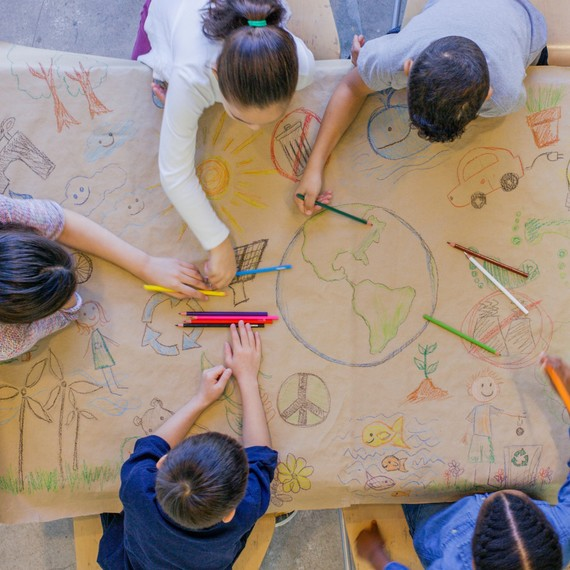 kids coloring earth