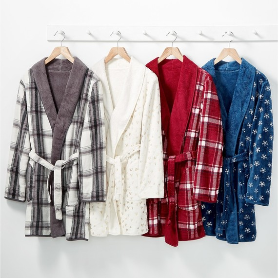 four hanging plush robes