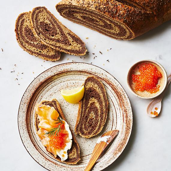 seeded marbled rye