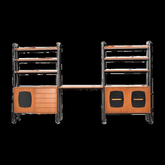 1950s teak bookcase, Gillis Lundgren for IKEA