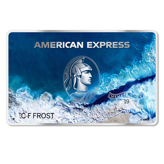 american express recycled plastic
