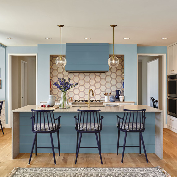 behr blue paint kitchen