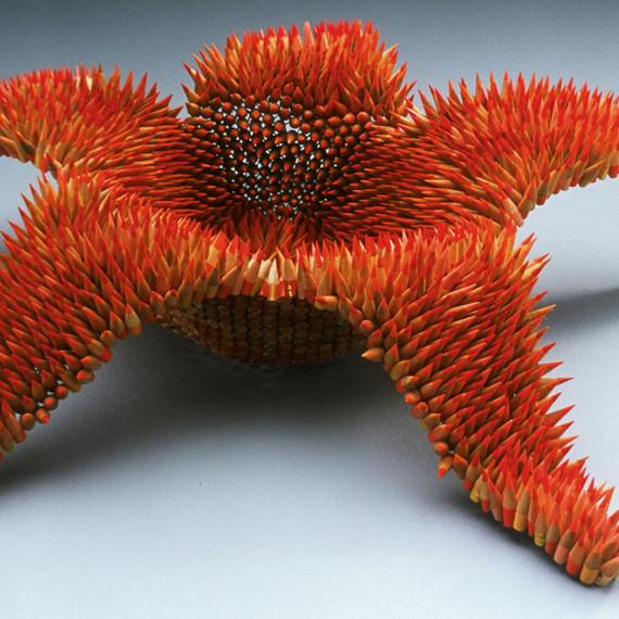 colored pencil sculpture